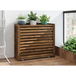 Cache clim en bois pour habillage extérieur climatiseur
